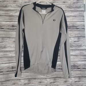 Pearl Izumi Gray Black Lightweight Cycling Jacket